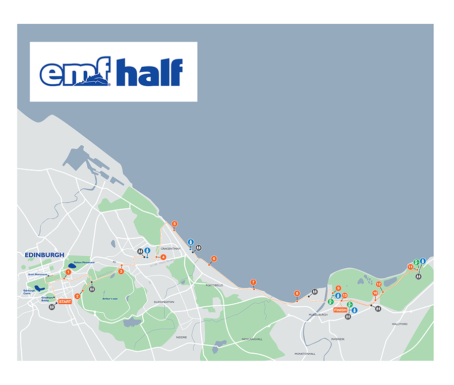 Edinburgh Half Marathon Route