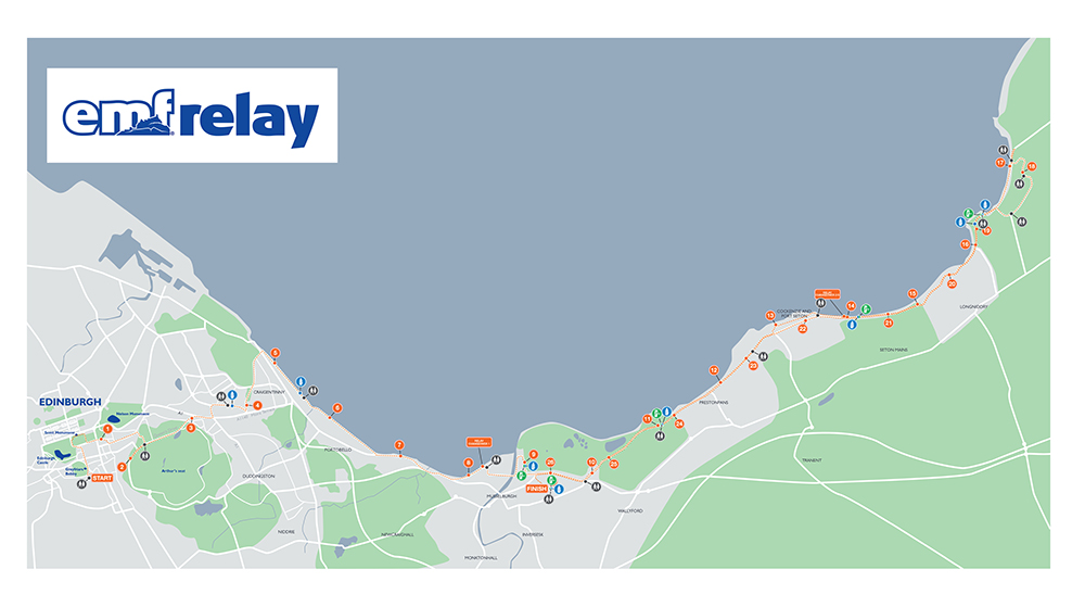 EMF Team Relay Route